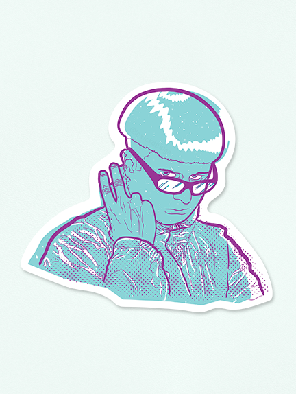Oliver Tree Vinyl Sticker